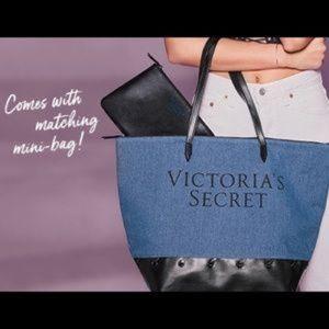 New Victoria's Secret Denim tote&travel bag